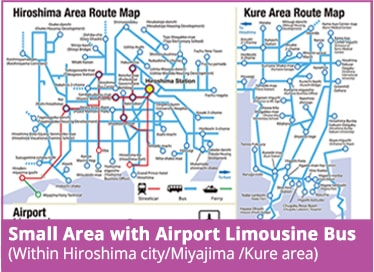 Small Area with Airport Limousine Bus